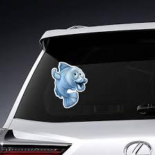 Big Lips Blue Fish Sticker
