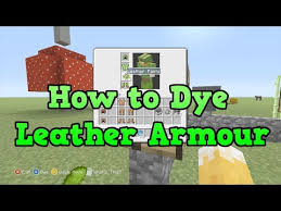 minecraft xbox 360 ps3 how to dye