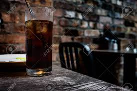 Glass On A Dark Irish Pub. Stock Photo, Picture And Royalty Free ...