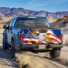 God Jesus Cross Eagle America Truck Tailgate Decal Sticker Wrap Ps124tdv1 Flagwix