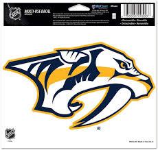 Amazon Com Wincraft Nhl Nashville Predators 20533011 Multi Use Colored Decal 5 X 6 Sports Fan Decals Sports Outdoors
