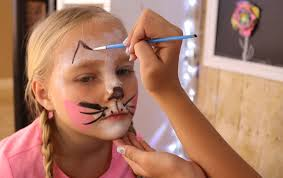 face paint bunny ears kids crafts by
