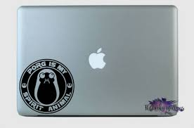 Porg Is My Spirit Animal Coffee Logo Star Wars Disney Bound Laptop Car Window Macbook Vinyl Decal Sticker