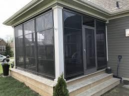 vinyl stacking windows screened room