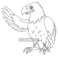 Outlined Eagle Wall Decal Pixers We Live To Change