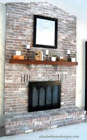whitewashed brick fireplace brick