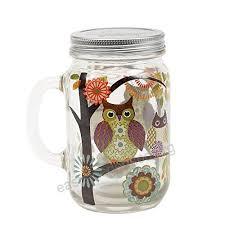 mason jar with handle and lid 24 oz owl