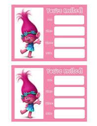 Trolls Movie Invitations Cumple De Trolls Fiesta Trolls Cumpleanos