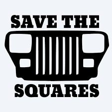 Save The Squares Jeep Wrangler Yj Vinyl Decal Jeep Wrangler Yj Jeep Wranglers Land Rover