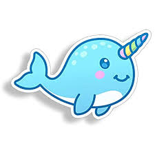 Amazon Com Narwhal Sticker Car Truck Laptop Cup Window Bumper Graphic Whale Unicorn Animal Die Cut Vinyl Decal Arts Crafts Sewing