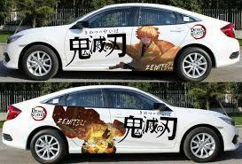 Anime Demon Slayer Kimetsu No Yaiba Car Door Body Decal Vinyl Sticker Zenitsu Ebay