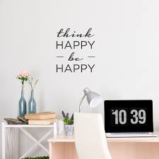 Wallums Think Happy Be Happy Wall Sticker Quote