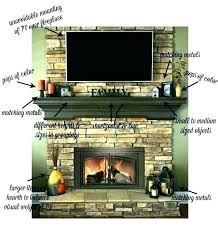 decor above fireplace mantel pauls