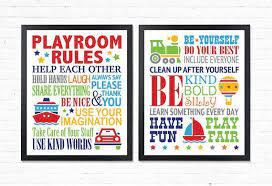 Playroom Rules Boys Room Decor Kids Room Decor Playroom Wall Decor Playroom Wall Art Toddler Playroom Prints Play Playroom Rules Playroom Boys Bedroom Wall Art