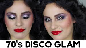 grwm 70 s disco glam makeup you