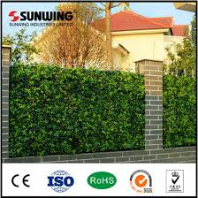 China Home Decorating Ideas Artificial Small Plastic Garden Fences China Fence Artificial Plant