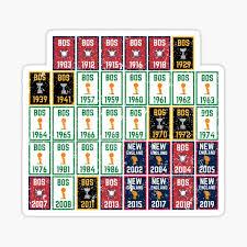 Boston Sports Stickers Redbubble