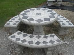 cement patio table set garden tables