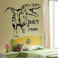 Cartoon Removable Vinyl Wall Stickers For Kids Rooms Personalised Dinosaur Giant Wall Art Children Sticker Murals Decals Sticker For Kids Room Vinyl Wall Stickerswall Stickers For Kids Aliexpress