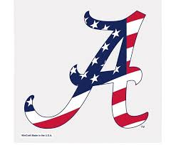 Alabama Crimson Tide Ncaa Stars And Stripes Color Decal Star Spangled 1776