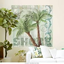 Palm Tree Wall Decal Uk Silhouette Beach Gold Art Large Black Vamosrayos