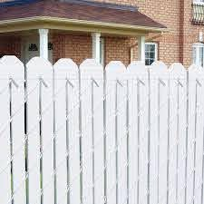 4 Vinyl Fence Slats White At Menards Fence Slats Vinyl Fence Fence Design