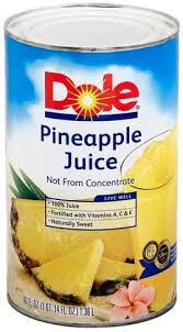 dole pineapple juice 46 oz nutrition