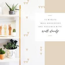 Tiny Triangle Wall Decal The Lovely Wall Company