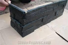 black wall veneers stone flats and