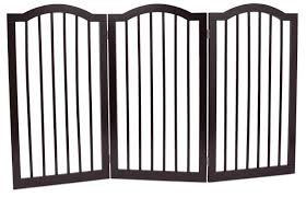Internet S Best Pet Gate With Arched Top 3 Panel 36 Inch Tall Fence Free Standing Folding Z Shape Indoor Doorway Hal In 2020 Pet Gate Puppy Gates Pet Safety Gate