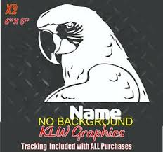 Parrot Vinyl Decal Sticker Macaw Love Bird Wall Sign Car Window Ebay