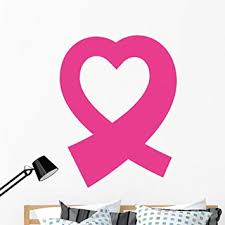 Amazon Com Wallmonkeys Pink Breast Cancer Ribbon Wall Decal Peel And Stick Vinyl Graphic 48 In H X 48 In W Wm368366 Furniture Decor