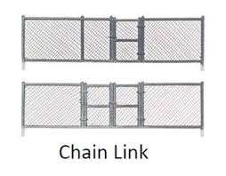 Chain Link Fence 8pcs O Scale Woodland Scenics
