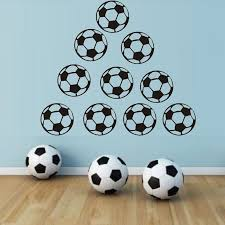 Best Offer F07f6 Football Wall Stickers Soccer Boys Kids Nursery Bedroom Home Decor Diy Kids Room Decoration Baby Wall Stickers Wall Decoration Cicig Co