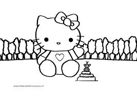 Hello Kitty Verjaardags Kleurplaat Taart Kleurplaten Voor Jou