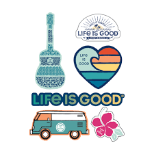 Sale Beach Six Pack Sticker Pack Life Is Good Official Site