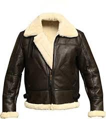 aviator shearling sheepskin leather