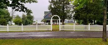 3ft High Convex White Pvc Picket Fence Alpine Fence Llc Facebook