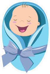 Cute New Born Baby Boy Sticker