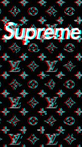 black louis vuitton supreme wallpapers