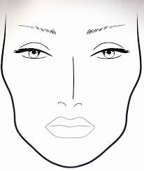 makeup face template printable