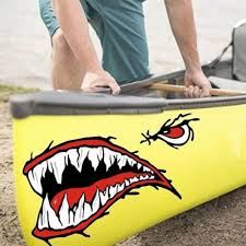 Hot Sale 658093 Dsycar 1pair Shark Teeth Mouth Vinyl Sticker Decals Dinghy Kayak Boat Fishing Motorcycle Car Bumper Graphics Accessories Cicig Co