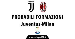 Juventus-Milan: probabili formazioni, radiocronaca e dove vederla ...