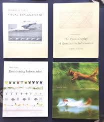 Set of Edward R. Tufte Books: Envisioning Information / The Visual Display  of Quantitative Information / Visual Explanations: Images & Quantities,  Evidence & Narrative / Beautiful Evidence / Plus, Seeing Around Edward