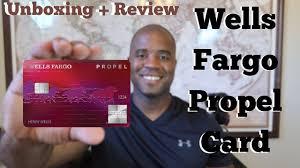 wells fargo propel card unboxing