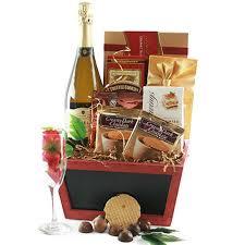 chagne truffles wine gift basket