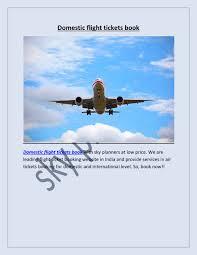 ppt domestic flight tickets book