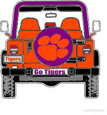 Go Tigers Jeep Clemson Colors Jeep Clemson Tiger Fans