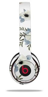 Beats Solo 2 Solo 3 Wireless Skins Poppy White Uskins