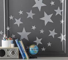silver star kids wall decals pottery